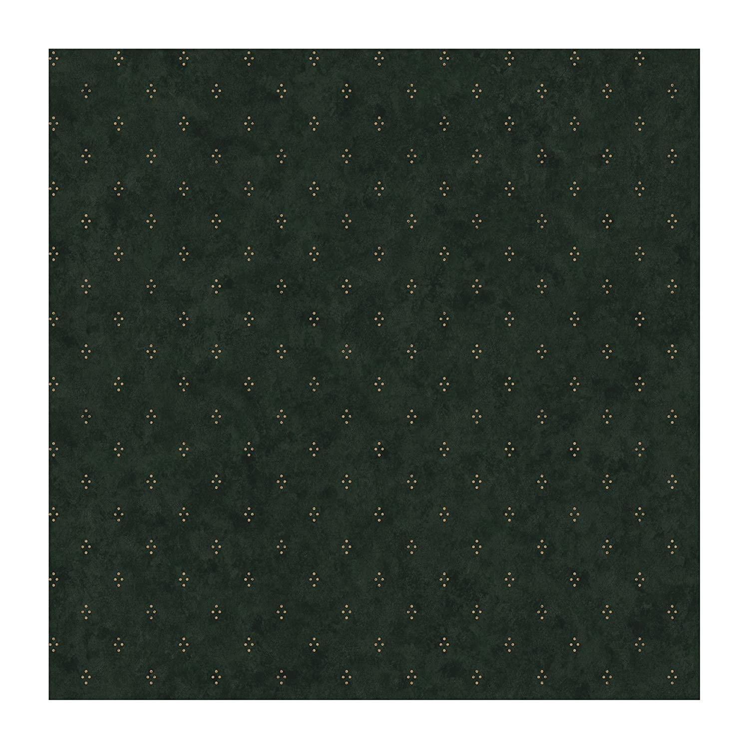 York Wallcoverings Best Of Country JN1718 Crackle Dot Wallpaper, Forest Green