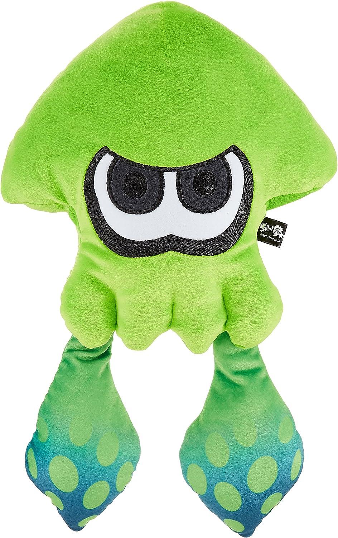 Sanei Boeki Splatoon 2 All Star Collection Large Squid Calamar Grande Neon Green Verde Neon Plush Toy Peluche Altura 43cm: Amazon.es: Juguetes y juegos