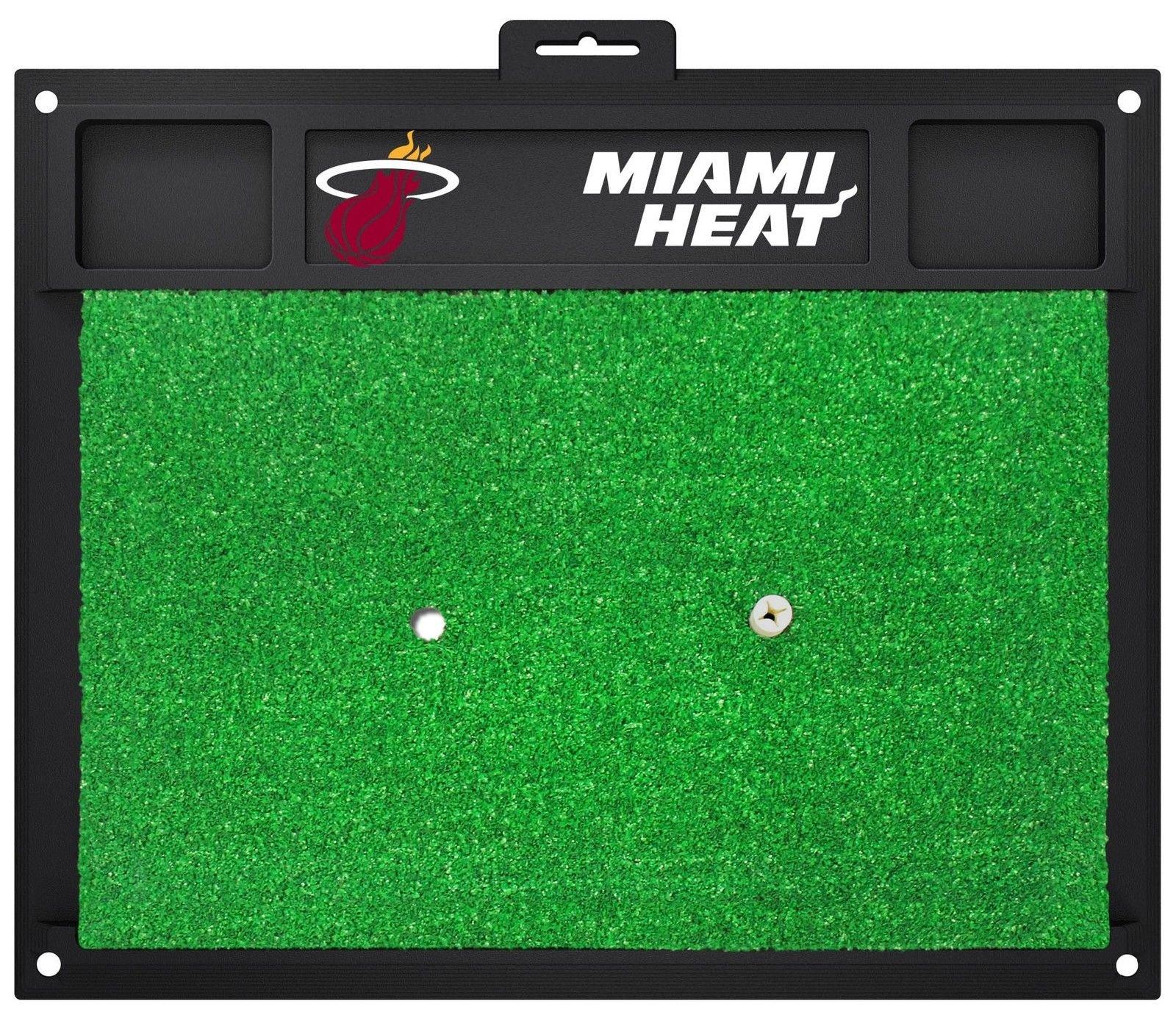 Fanmats NBA Miami Heat Team Logo 20 X 17 Inch Golf Hitting Mat Heavy Duty