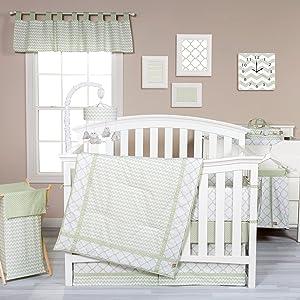 Trend Lab Sea Foam 3 Piece Crib Bedding Set, Sage