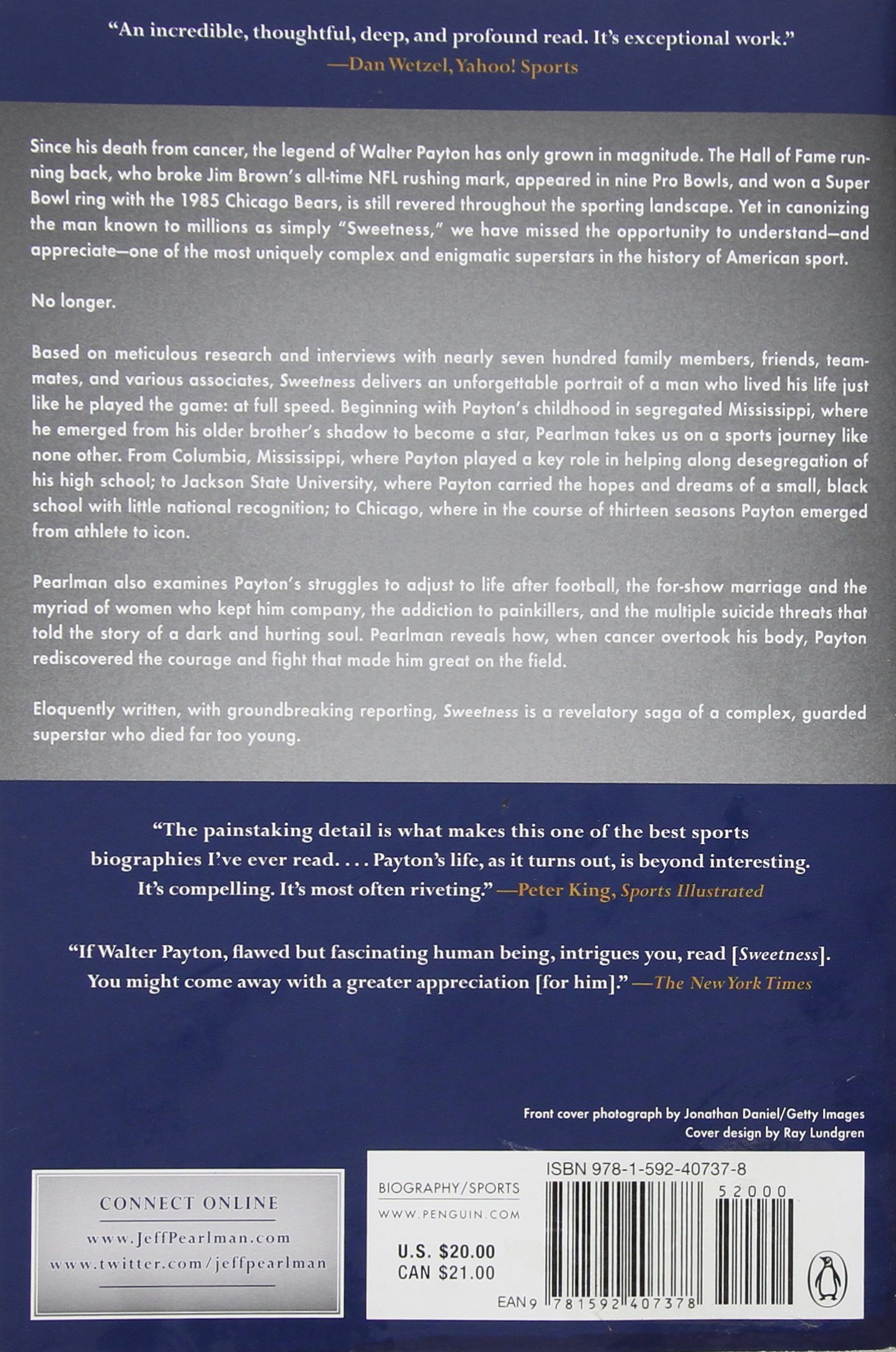 Amazon.com: Sweetness: The Enigmatic Life of Walter Payton (8601403678210):  Jeff Pearlman: Books