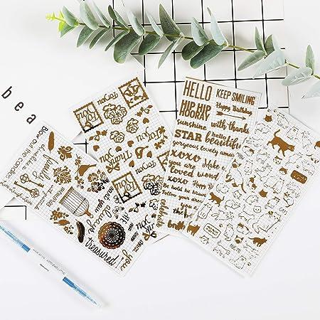 Inovat Cute Clear Gold Metallic Foil Sticker