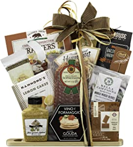 Gourmet Cheese and Salami Gift- The Cutting Board Collection by Wine Country Gift Baskets