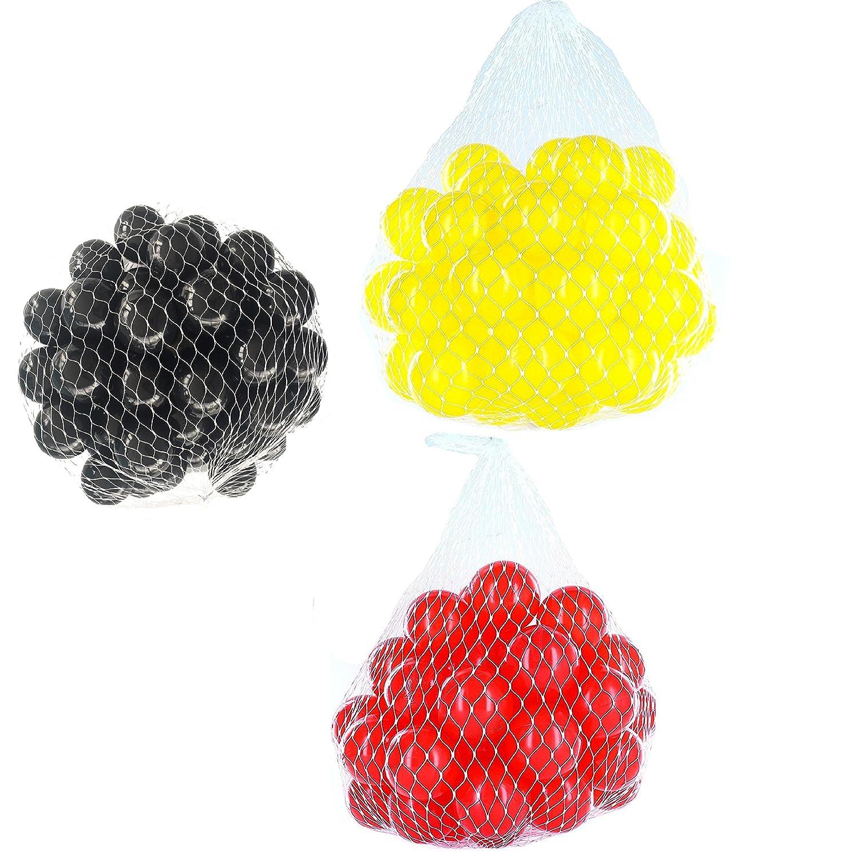 9000 Bä lle fü r Bä llebad gemischt mix mit rot, gelb und schwarz mybällebad