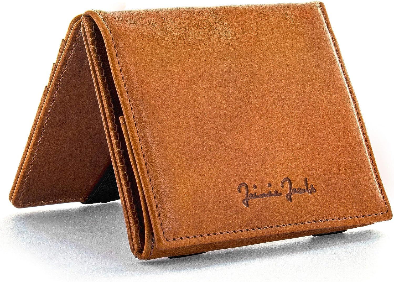Jaimie Jacobs Cartera Mágica Flap Boy Magic Wallet Carteras Hombres Cuero auténtico (Cognac)