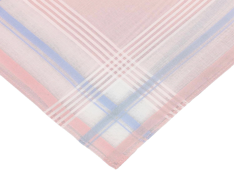 100/% cotone Color Dessin 4 misure:30x30 cm BETZ Set di 12 fazzoletti da naso per donna Paloma 2