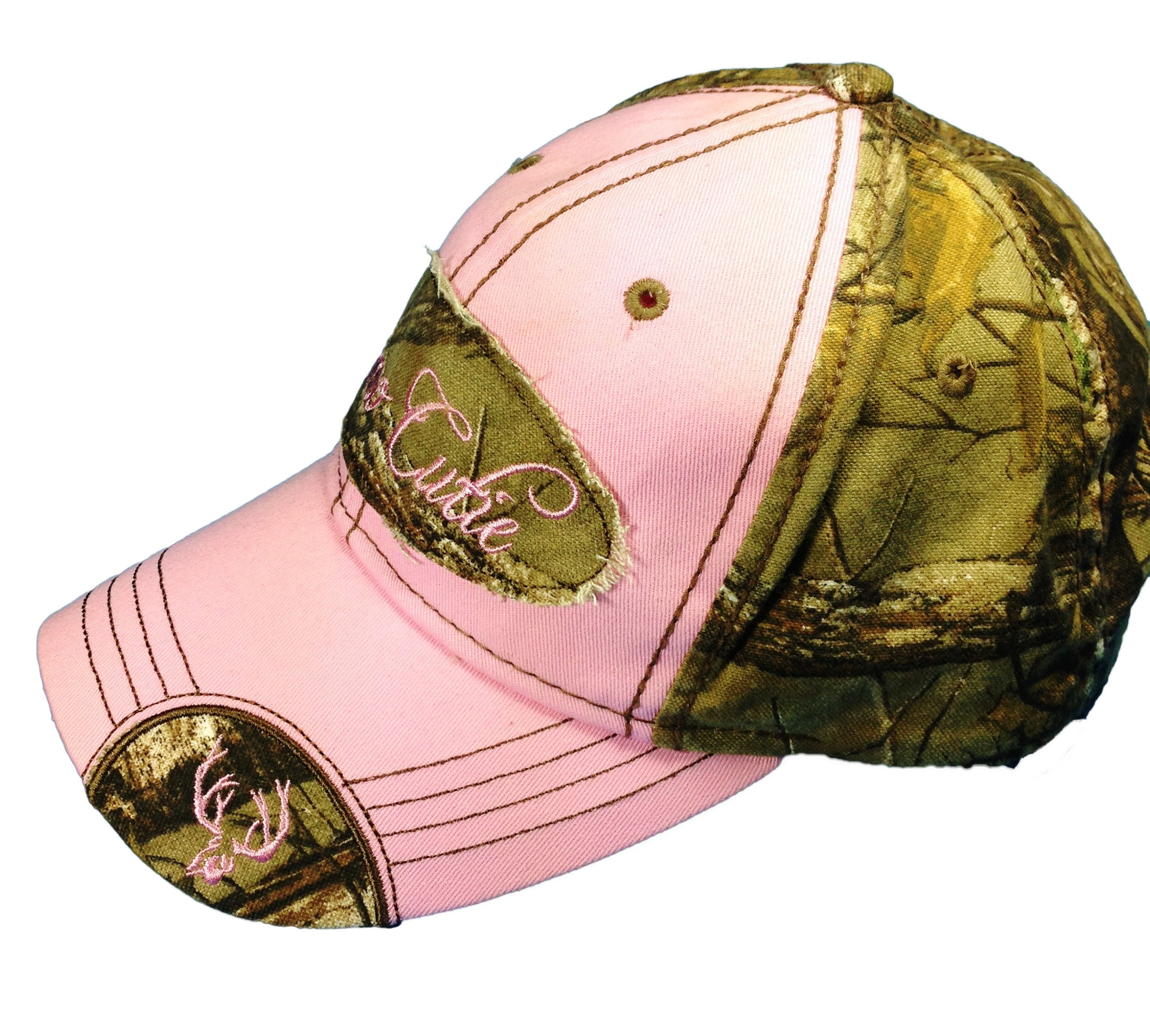 Woman's Realtree Camo Hat with Pink Trim Woman's Camo Ball Cap by BT Outdoors (Image #2)