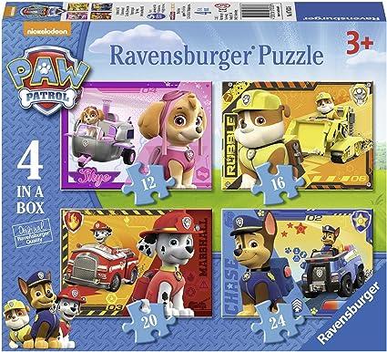 Ravensburger Paw Patrol - 4 puzzle en una caja, 12-16-20-24 piezas ...