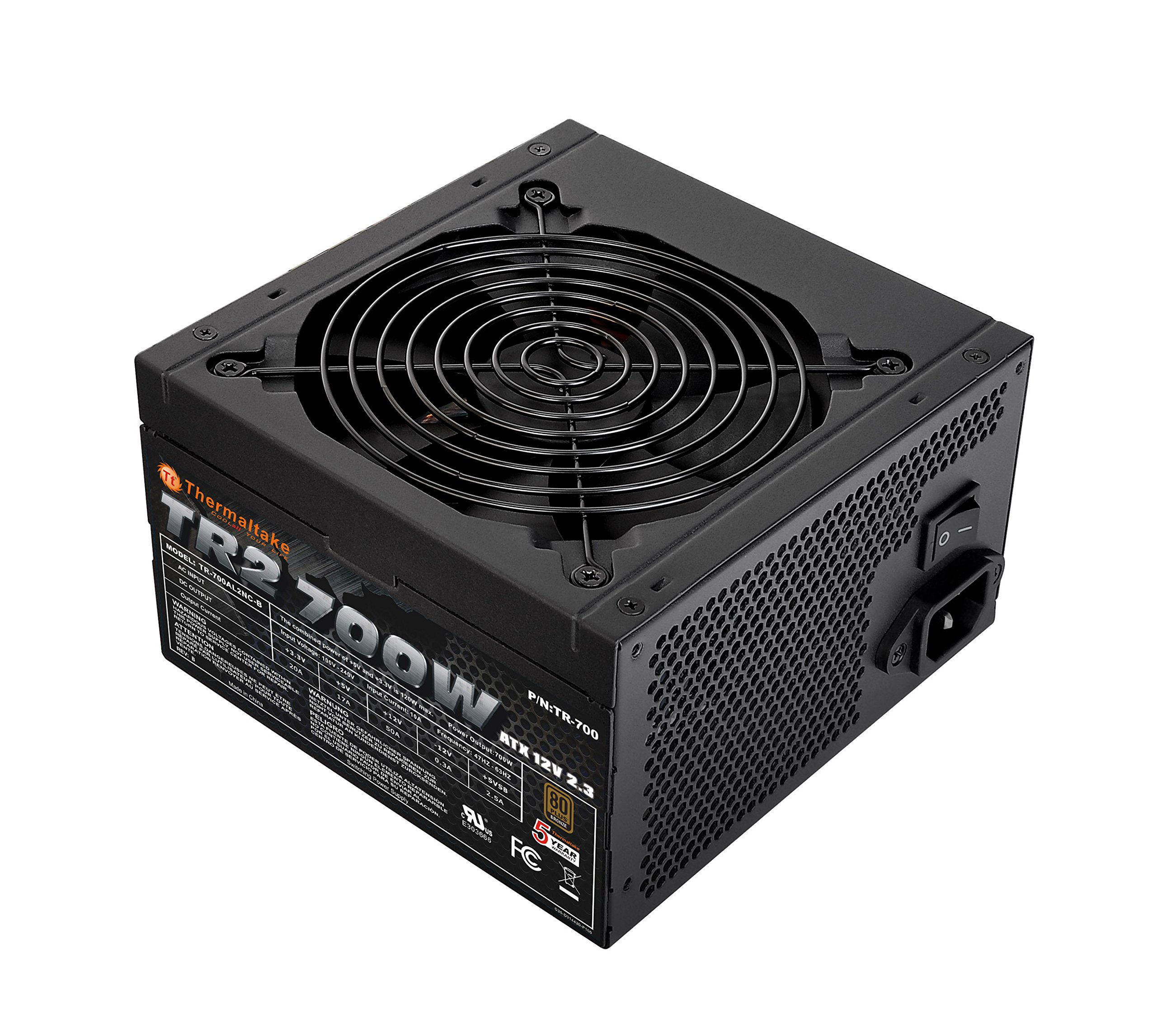 Thermaltake TR2 700W 80+ Bronze ATX 12V 2.4/EPS 12V 2.92 Power Supply TR-700CNUS