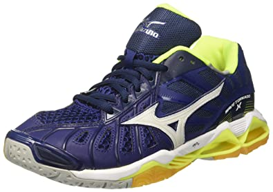 Mizuno Wave Tornado, Chaussures de Volleyball Homme, Multicolore (Bluedepths/White/Safetyyellow), 42 EU