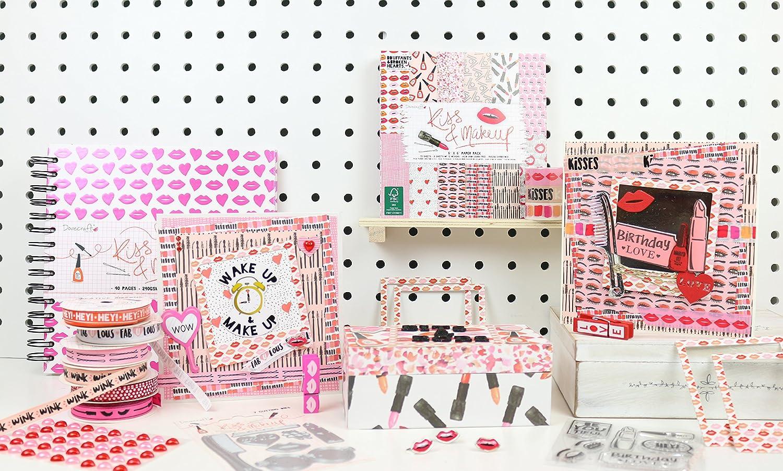 Dovecraft Kiss /& Make Up Clear Stamp set BeYOUtiful hey Birthday Love lipstick