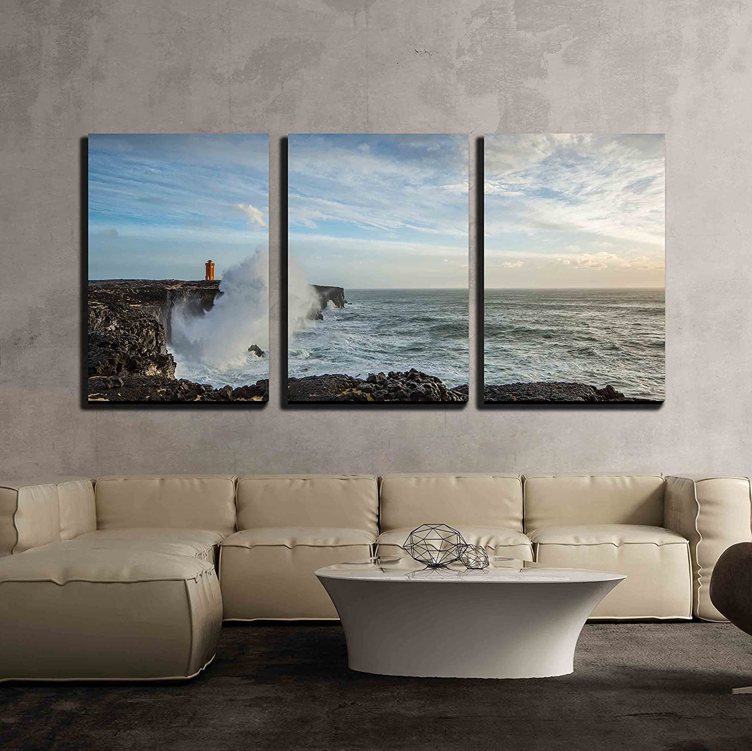 wall26 com art prints framed art canvas prints greeting wall26 3 piece canvas wall art iceland nature modern home decor stretched and framed ready to hang 16