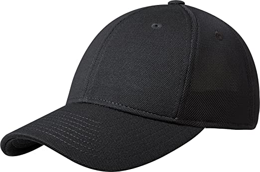 Port Authority Men's Pique Mesh Cap - Black/Black C826 ...