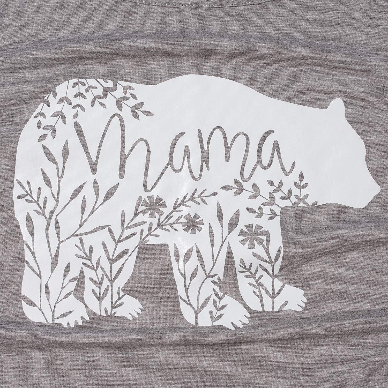 GINKANA Womens Baseball Crew Neck Flower Raglan Sleeve Maternity T-Shirt Top Pregnancy Shirt