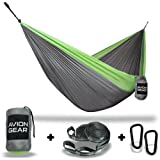 LIMITED TIME INTRODUCTORY OFFER – Avion Gear – Double Portable Hammock with Included Loop Lock Tree Straps™ - Green