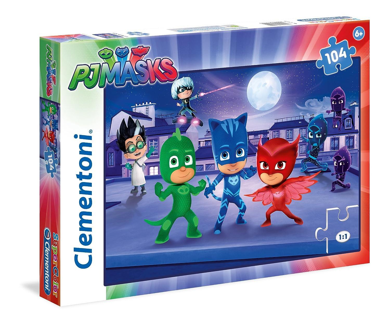 Clementoni 27209 – Puzzle 3 PJ Masks, 104 Piezas
