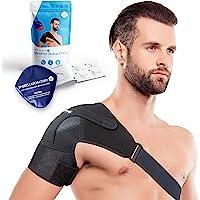 Sports Laboratory Schouderbandage verstelbaar met warmte en koudetherapiekompres, voor alle schouderpijn, voor beide…