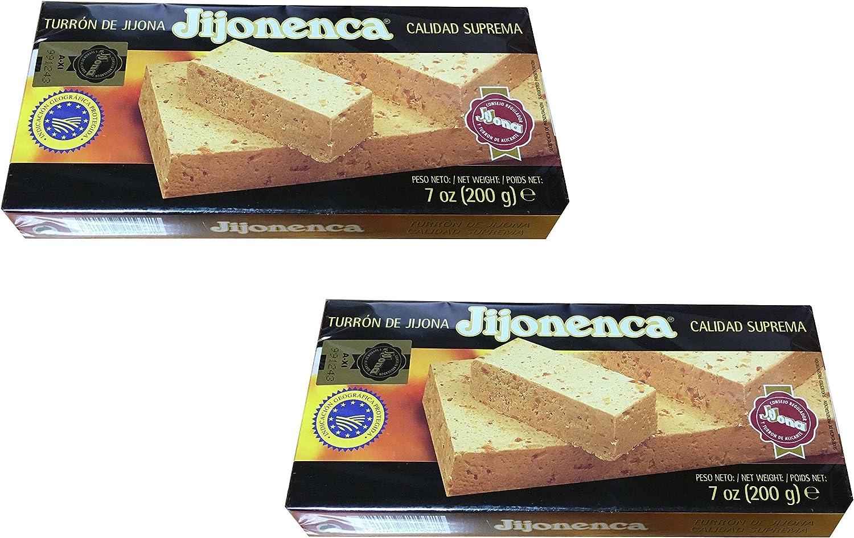 Jijonenca - Pack de 2 Turron de Jijona, Turron blando de almendra - Calidad superior - 200gr (sin gluten) Producto español: Amazon.es: Alimentación y bebidas