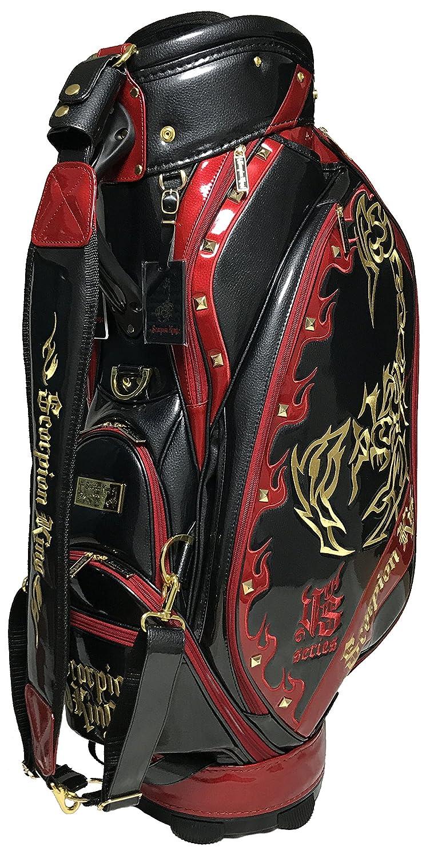 【数量限定】 SCORPION KING スコーピオンキング ゴルフ カート キャディバッグ SKCB-002 B076CL2V26ブラック/レッド