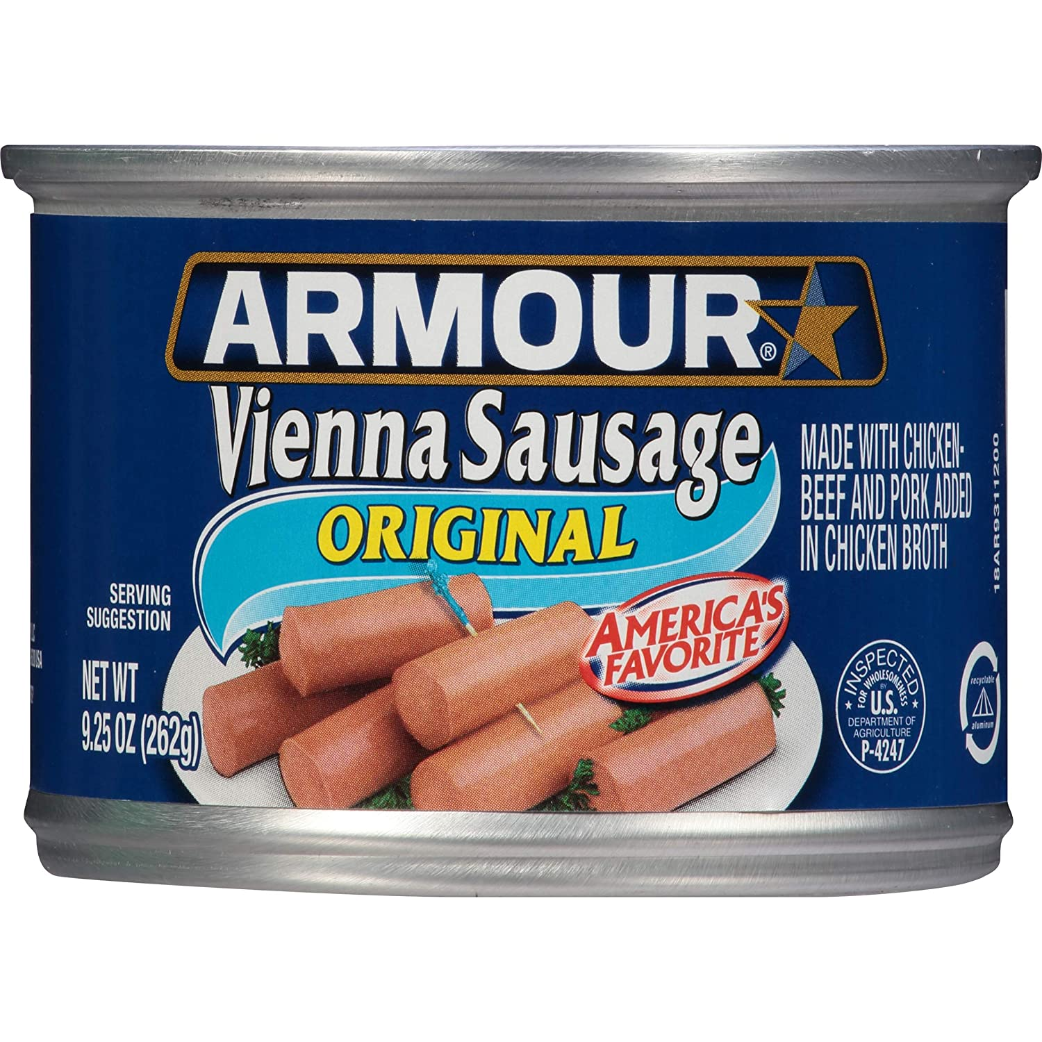 Armour Star Vienna Sausage, Original, 9.25 oz. (Pack of 12)