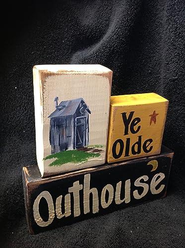 Amazon.com: Ye Olde Outhouse sign chunky wood blocks bathroom décor on outhouse foam, outhouse signs, outhouse fabric, outhouse silhouette, outhouse prints, outhouse ornaments, outhouse stamps, outhouse decorations, outhouse kits, outhouse posters, outhouse theme decor,