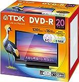 TDK 録画用DVD-R デジタル放送録画対応(CPRM) 1-16倍速対応 5色カラーミックスディスク 20枚パック 5mmスリムケース DR120DMC20UE