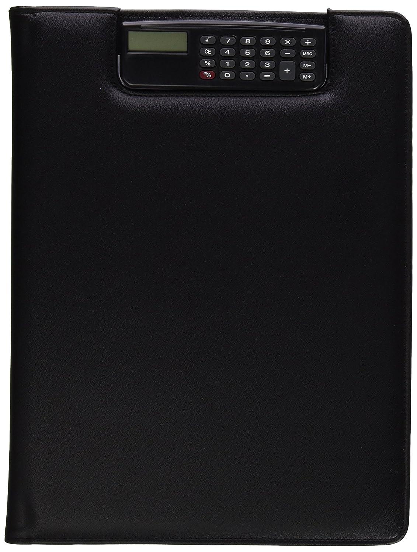 Alassio 31500 - Cartella per conferenza con clip-calcolatrice, A4, dimensioni ca. 32,5x24x2 cm, nero 22903191