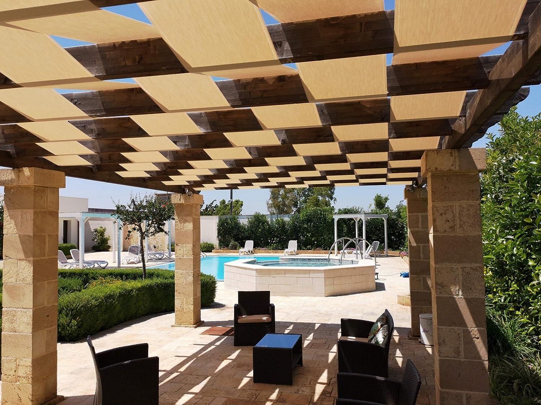 Generico - Banda de sombra para pérgola o cenador, estructura con cubierta de trenzado o onda – 45 cm / 60 cm – Blanco, Havana- Una cantidad=1 metro ...