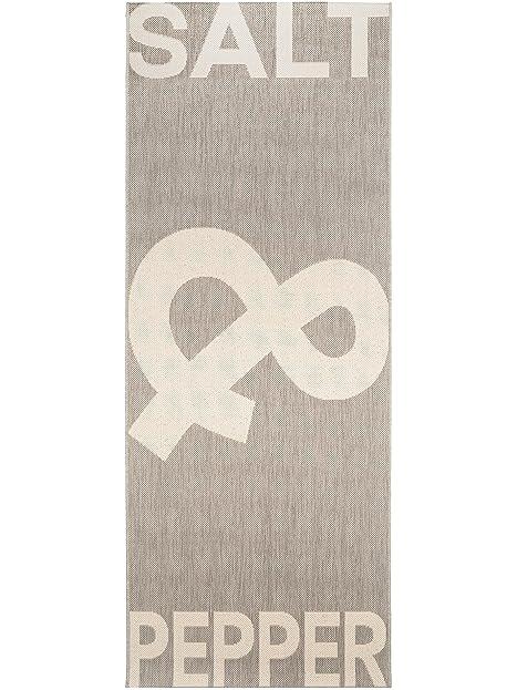 benuta Küchenläufer Salt & Pepper Grau 80x200 cm   Pflegeleichter ...