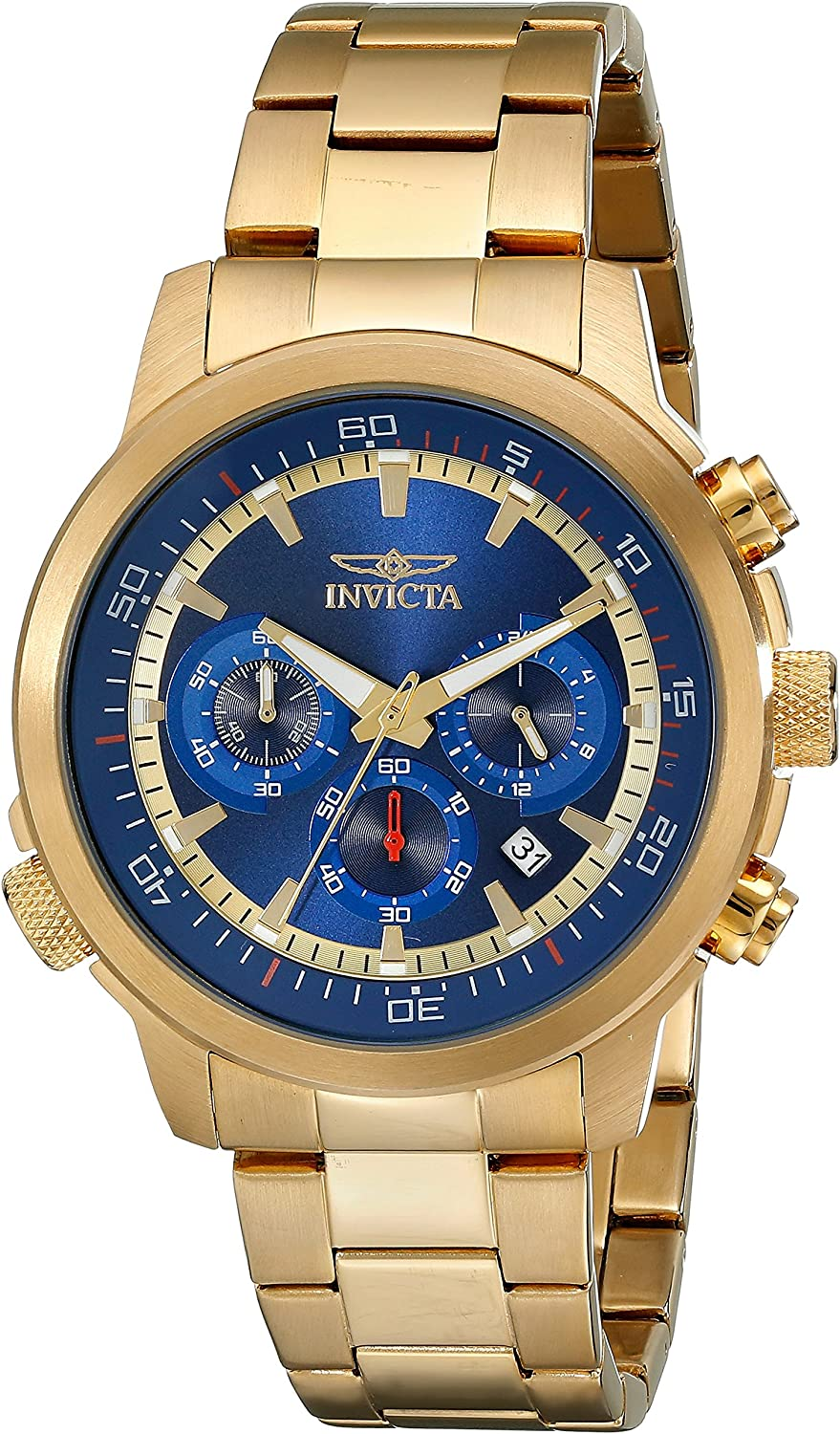 Invicta Men s 19241 Specialty 18k Gold Ion-Plated Watch