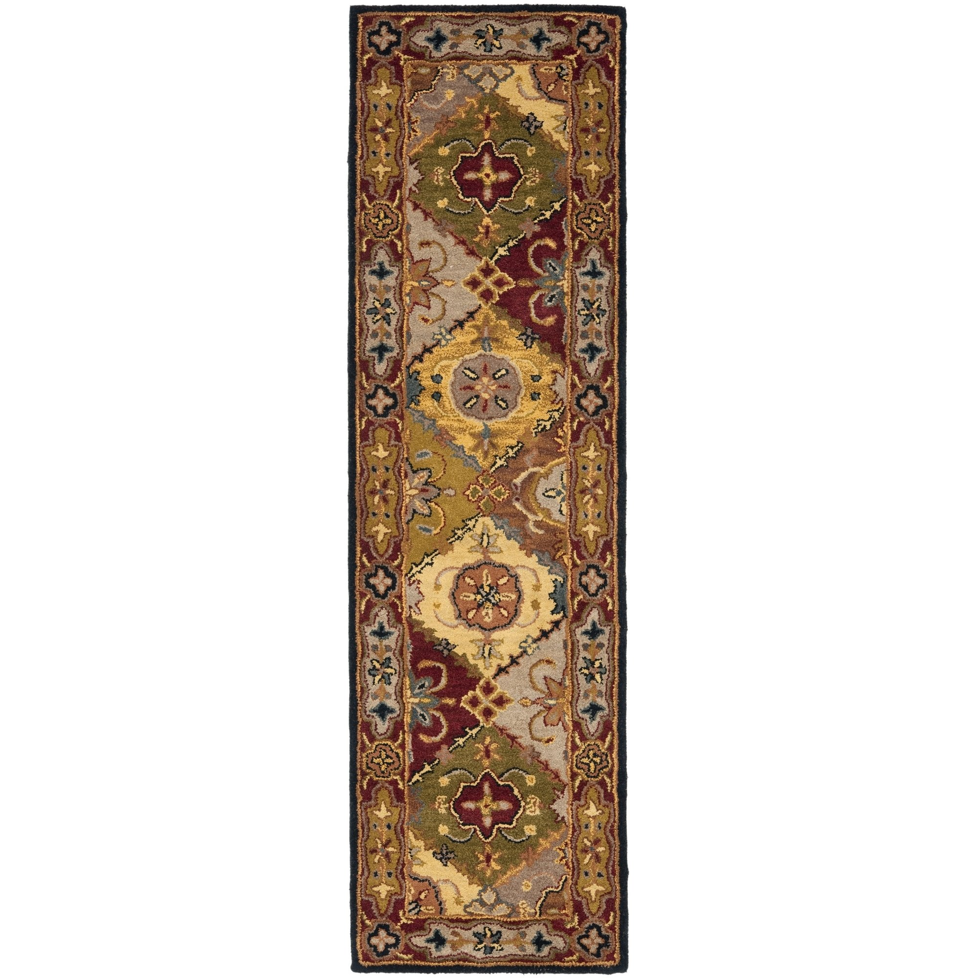 Safavieh Heritage Collection HG512B Handcrafted Traditional Oriental Multi and Red Wool Runner (2'3'' x 16')