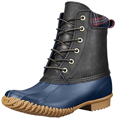 Tommy Hilfiger Women's Russel Rain Boot, Black, ...
