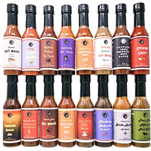 Premium | Ultimate HOT SAUCE Variety or Gift Pack | 16 Count | Crafted in Small Batches with Farm Fresh Herbs for Premium Flavor and Zest