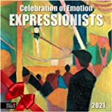 "Expressionists - 2021 Wall Calendars by Red Ember Press - 12"" x 24"" When Open - Thick & Sturdy Paper - Full of Emotion & Colo"
