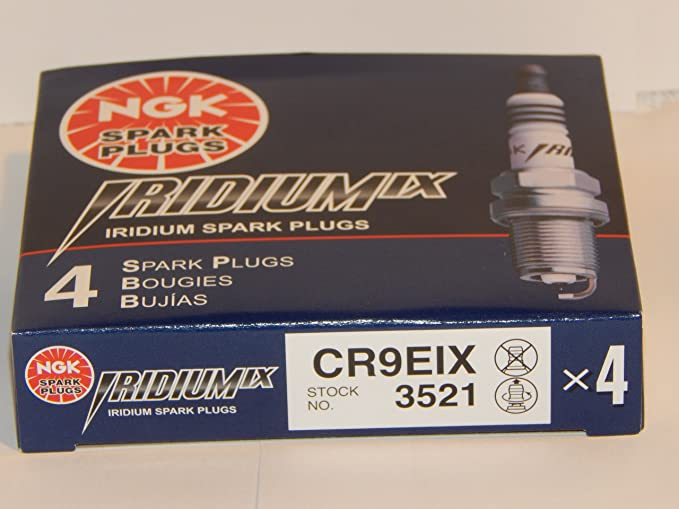 4 New NGK Iridium IX Spark Plugs CR9EIX # 3521 by NGK: Amazon.es: Coche y moto