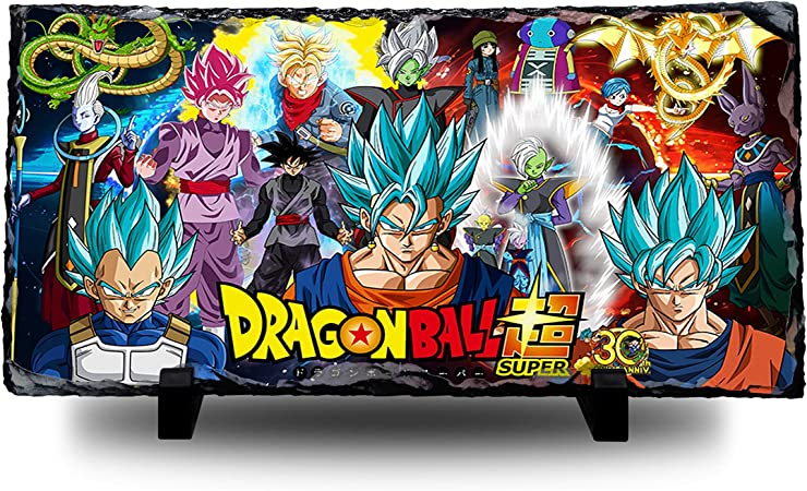 30th Anniversary Natural Rock Slate with Stand Anime Art Dragon Ball Super