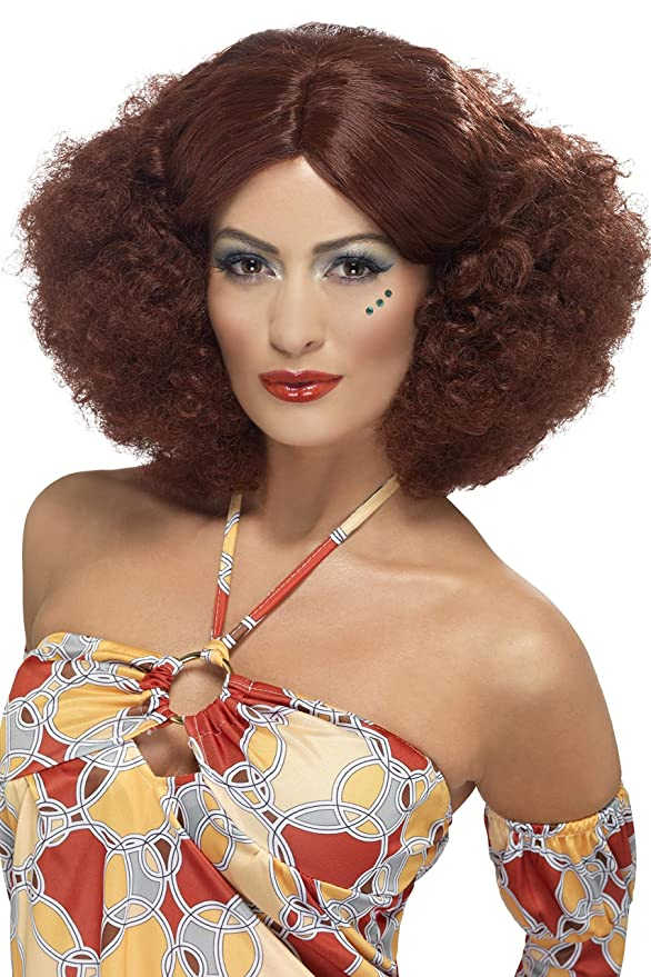 Vintage Hair Accessories: Combs, Headbands, Flowers, Scarf, Wigs Smiffys 70s Afro Wig $16.09 AT vintagedancer.com