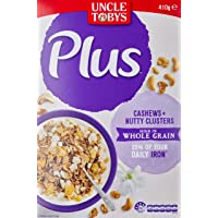 UNCLE TOBYS Plus Iron Cereal (Cashews & Nutty Clusters), 410g