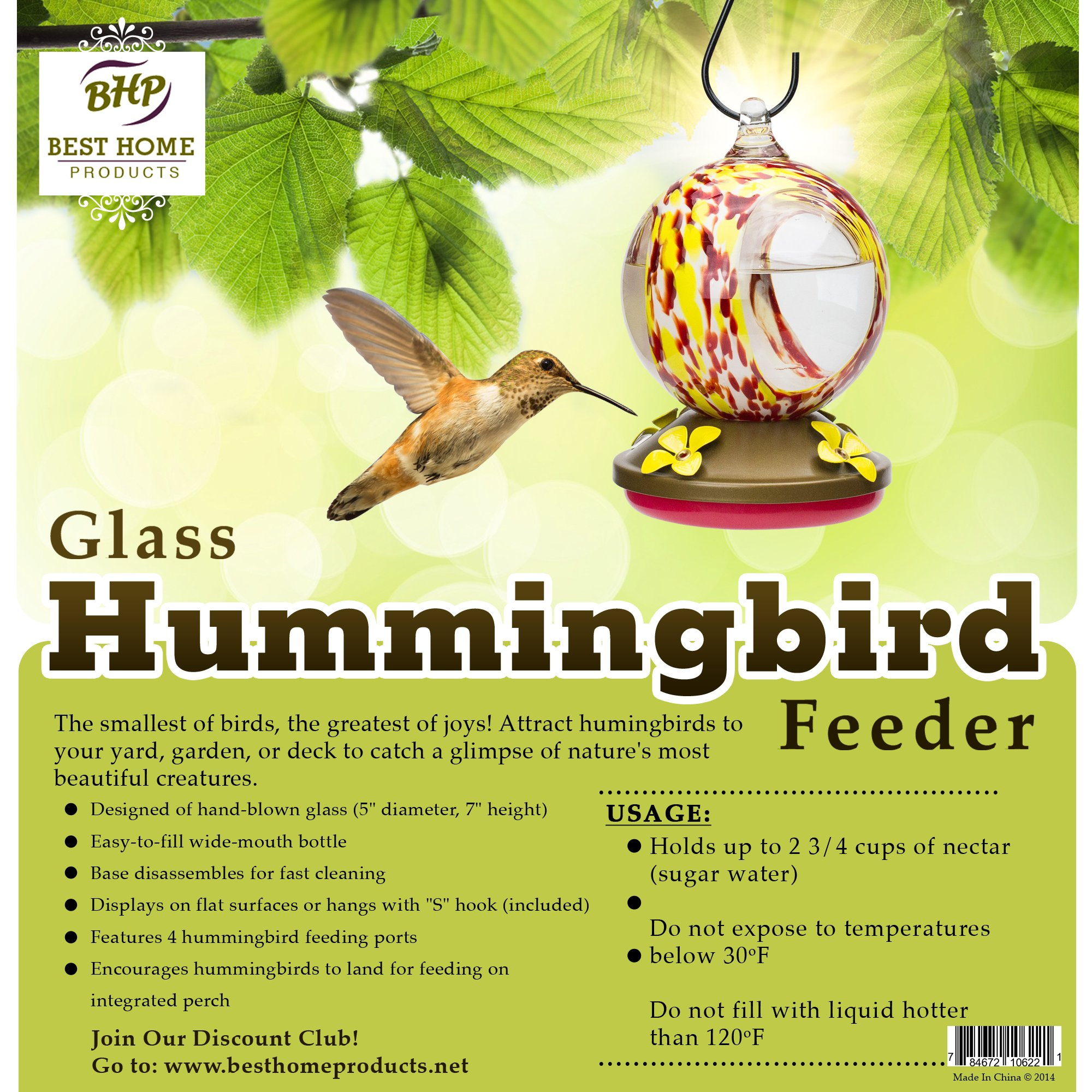 plastic ounce amazon garden dp feeder oz feeders pet apple hummingbird song com perky decorative