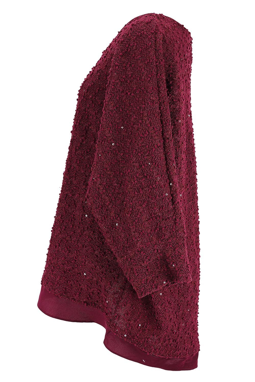 Alfani Womens Scoop Neck Sweater Size XL US Regular Purple Polyester