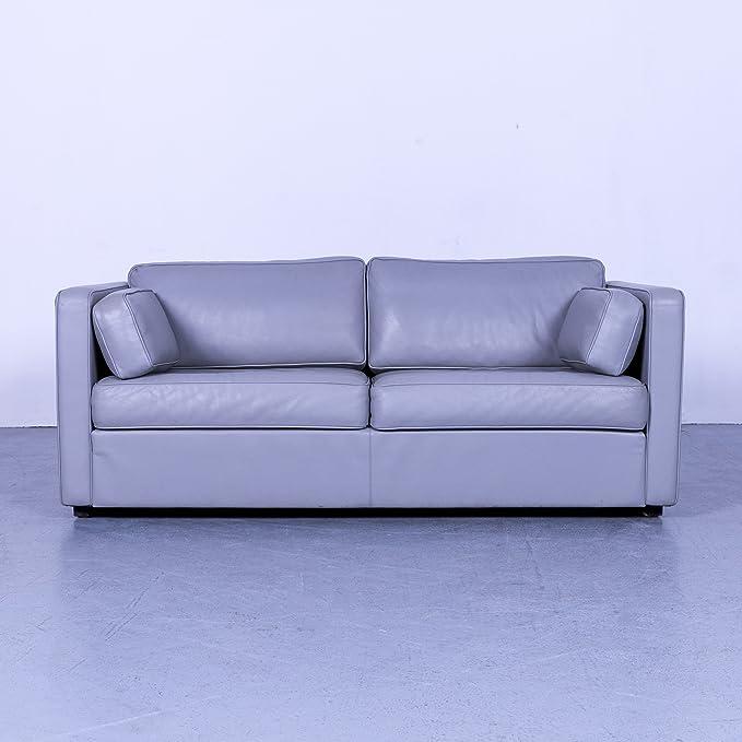 Walter Knoll Designer Leder Sofa Grau Zweisitzer Couch ...