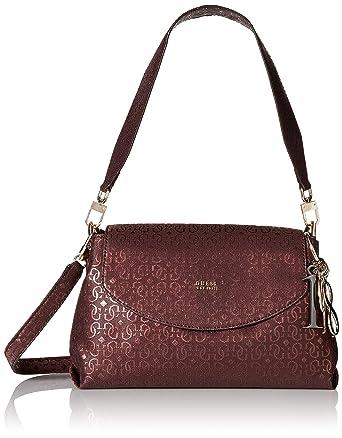 6e2547c3d GUESS Tamra Metallic Shoulder Bag, Burgundy: Handbags: Amazon.com
