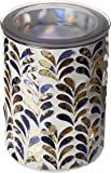 Scentsationals 001-78186 Ceramic Wax Warmer, 4x4x5.84, Mosaic Peach Glass