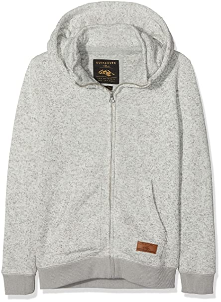 Quiksilver Keller Sudadera, Niños, Gris (Light Grey Heather SJSH), (Tamaño