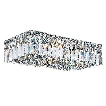 best authentic 1c5da f7e12 Worldwide Lighting W33529C20 Cascade 4 Light Flush Mount ...