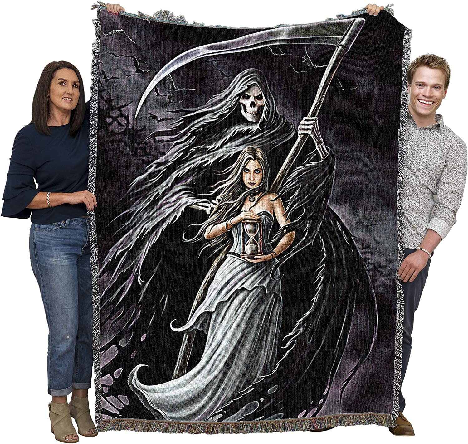 Queen Grim Reaper /& Death Dogs Hound Luxury Mink Faux Fur Blanket Warm Soft Full