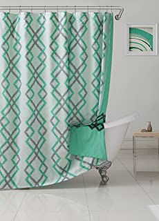 Kensie Ainna Floral Mildew Resistant Fabric Shower Curtain Liner for Bathroom Waterproof Assorted Colors - Water Repellent /& Antibacterial 70 X 72 Inch - Taupe
