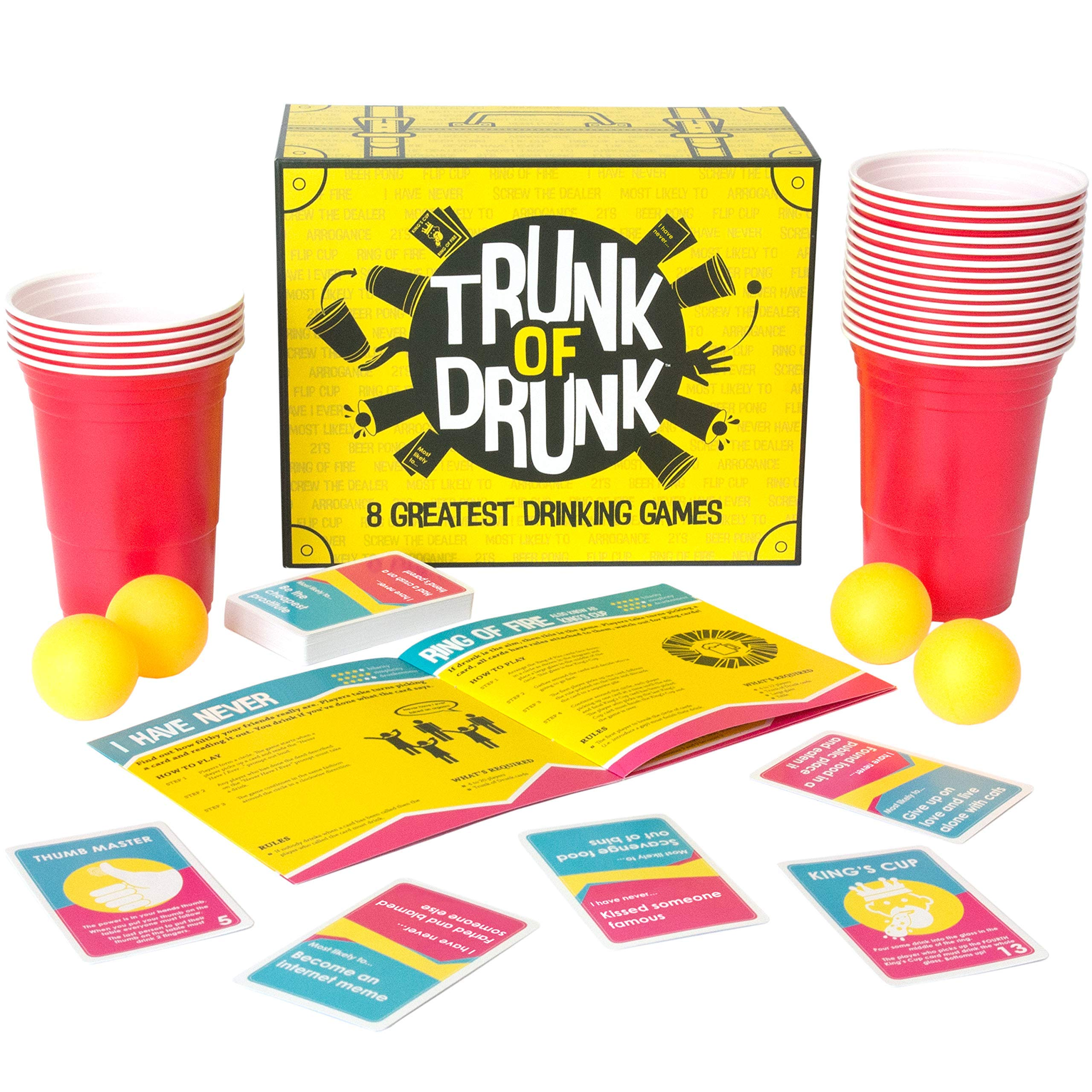 Trunk of Drunk - 8 Greatest Drinking Games (Beer Pong, Ring of Fire, Never Have I Ever and more)