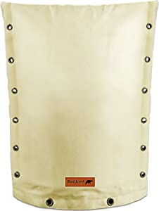 "Redford Supply Customizable Backflow Preventer Insulation Outdoor Pipe Cover for Winter Freeze Protection | Well Cover, Irrigation Waterproof Pouch, Sprinkler Valve Cover (14""W x 18""H, Beige)"