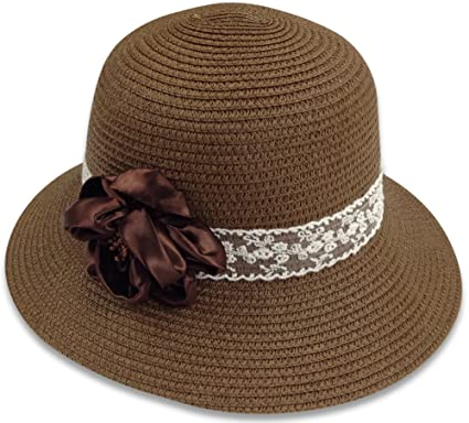 5e574099 Bleu Nero Luxury Summer Sun Hat for Women - Beach Straw Hat Wide Brim 50+  SPF Sun Protection - Wide Brimmed Packable Crushable Summer Sunhat for  Ladies ...